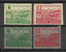 Deutschland 1945/46 Soviet Zone Sachsen Michel 85 - 86 & 90 - 91 Bodenreform *