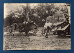 Large Photo 14 X 20cm Antique Tractor And Agricultural Machine. Country Processors, Farmers..  Gimont - Fotos