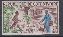 Cote D'Ivoire N° 199 Nd XX : Journée Du Timbre, Non Dentelé, Sans Charnière, TB_ - Côte D'Ivoire (1960-...)