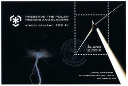 ALAND 2009, IPY International Polar Year - Preserve The Polar Regions And Glaciers Minisheet**CTO