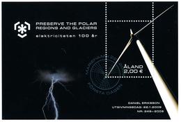 ALAND 2009, IPY International Polar Year - Preserve The Polar Regions And Glaciers Minisheet**CTO - Preservare Le Regioni Polari E Ghiacciai