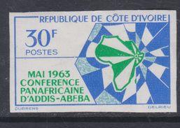 Cote D'Ivoire N° 210 Nd XX : Conférence De L'Unité Africaine à Addis-Abeba, Non Dentelé, Sans Charnière, TB_