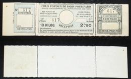 COLIS POSTAUX PARIS N° 141 Neuf N Cote 65€