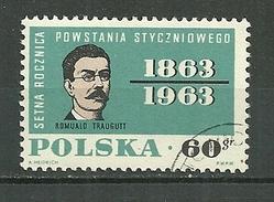 POLAND Oblitéré 1228 Centenaire De L´insurrection De 1863 Général Romuald Traugutt