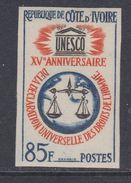 Cote D'Ivoire N° 221 Nd XX : 15ème Anni. De La Déclaration Univers. Des Droits De L'Homme , Non Dentelé, Sans Cha., TB_