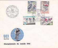 FDC - Championnat Du Monde 1963 - Ligue Vélocipédique Belge - Timbres N° 1255/8