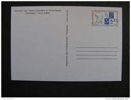 TAAF: TB Entier Postal N° 1 - CP, Neuf . - Entiers Postaux