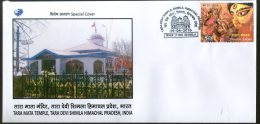 India 2016 Tara Mata Temple Shimla Hindu Mythology Religion Special Cover # 6770 - Hinduism