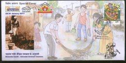 India 2017 Mahatma Gandhi Advocated Universal Cleanness BILASPEX Sp Cover # 18155