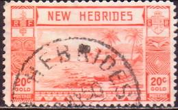 NEW HEBRIDES(English Inscr.) 1938 SG 55 20c Used - English Legend