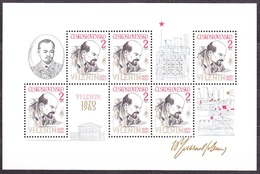 CZECHOSLOVAKIA 1985, Complete Set In Sheet, MNH. Michel Block 62. LENIN - 115. BIRTHDAY. Good Condition, See The Scans.