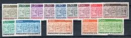 Andorra Francese 1983/84/85/86 -- Stemma D'andorra -- (unif.316/24-335/36- 337-346/47) **MNH / VF