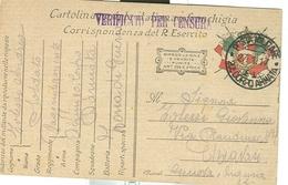 R. ESERCITO-CORRISPONDENZA IN FRANCHIGIA-P.M. 20° CORPO ARMATA-1917 -CHIAVARI - GENOVA - CENSURA - Militaria