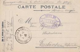 Carte De Franchise Militaire Prisonniers De Guerre Compagnie PGRL 488 Dépot De Laon Aisne 1919 - Marcofilia (sobres)