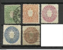 Deutschland SACHSEN 1863/67 Michel 14 - 19 */o