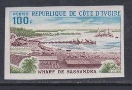 Cote D'Ivoire N° 385 Nd XX : Wharfv Dev Sassandra, Non Dentelé, Sans Charnière, TB_