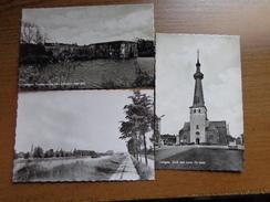 3 Kaarten Van Oelegem: Zicht Op Albertkanaal + Vesting Oorlog 1914 + Kerk Met Toren 15e Eeuw --> Onbeschreven - Ranst