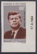 Cote D'Ivoire P.A. N° 33 Nd XX : Anniversaire De La Mort Du Président John F. Kennedy, Non Dentelé, Sans Charnière, TB_