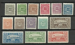 Deutschland Schleswig 1920 Michel 1 - 14 *