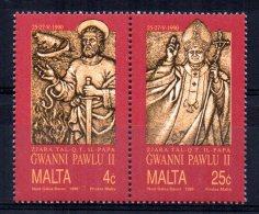 Malta - 1990 - Visit Of Pope John Paul II - MNH - Malta