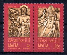 Malta - 1990 - Visit Of Pope John Paul II - MNH