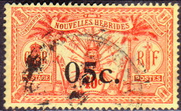 NEW HEBRIDES(French Inscr.) 1921 SG F34 5c On 40c Used CV £100 - French Legend
