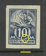 ESTLAND Estonia 1922 Michel 39 B PLATTENFEHLER Error Abart * - Estland