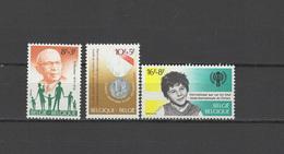 Belgium 1979 IYC International Year Of The Child, War Disabled, Henri Heymann Set Of 3 MNH