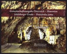 ÖSTERREICH 2013 ** Adelsberger Grotte, Cave / Gemeinschaftsausgabe Mit Slowenien - Block MNH - Natur