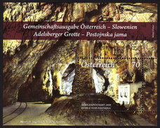 ÖSTERREICH 2013 ** Adelsberger Grotte, Cave / Gemeinschaftsausgabe Mit Slowenien - Block MNH