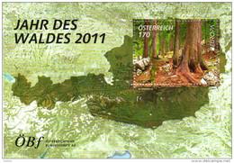 ÖSTERREICH 2011 ** Europa CEPT 2011 - Jahr Des Waldes - Block MNH