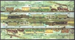 811 TRAINS TRENI Eisenbahn TRANSPORT  INDONESIA    BLOCK POSTFRISCH  SHEET MINT MNH **