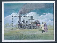 814 TRAINS TRENI Eisenbahn TRANSPORT  CONGO  BLOCK POSTFRISCH  SHEET MINT MNH **