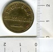 Jeton De Brasserie Alsacienne K. Geiser Strassburg I. E. - (Strasbourg En Alsace) - étoile De Brasseur - Monétaires / De Nécessité