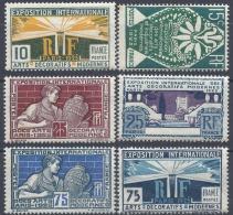 EXPOSITION INTERNATIONALE DE PARIS N°210/215 1924/1925 NEUF ** MNH (ROUSSEURS)