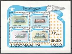 822 TRAINS TRENI Eisenbahn TRANSPORT SOMALIA   BLOCK POSTFRISCH  SHEET MINT MNH **
