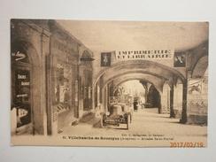 Postcard Villefranche De Rouergue Aveyron Arcades Saint Martial Old Car Voiture Automobile  My Ref B1815 - Villefranche De Rouergue