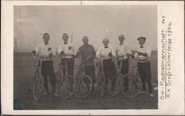! Alte Fotokarte , Photo, Radballmannschaft, Berlin Gross Lichterfelde, Cyclisme, Cycling, Bicycles - Radsport