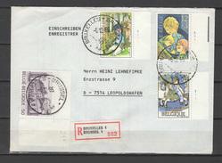 Belgium 1985 Children Registered Letter To Germany