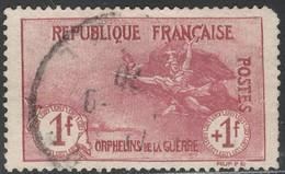 France Yvert 154 Oblit. A Droite Dentes Courtes Et Coin Arrondi TB Sans Défaut Cote EUR 490 (numéro Du Lot 219LA)
