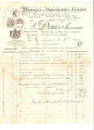 Facture Fabrique D'Ornements D'Eglise établie à Bxl R.du Midi 6/5/1901 Pour Mr Le Curé De Vieusart PR385 - 1900 – 1949