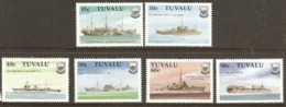 Tuvalu 1990  SG 578-83 2nd W W 2 Ships Unmounted Mint
