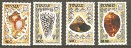 Tuvalu 1990  SG 597-600 Sea Shells Unmounted Mint