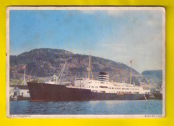 M.S. POLARLYS * BERGEN LINE NORWAY Ocean Liner Steamer Paquebot Stoomboot Dampfer Boot Bateau Boat Schip Ship 4450 - Piroscafi