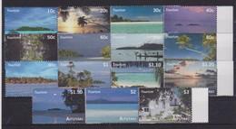 2010 Aitutaki (Cook Is.) - Tourism Sheet 15v, Islands Bird Views, Marine Life, Vue Aerienne Des Iles, Mi 786/800 MNH