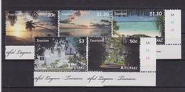 2010 Aitutaki (Cook Is.) - Tourism Sheet 5v, Islands Bird Views, Marine Life, Vue Aerienne Des Iles, MNH