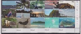 2011 Rarotonga (Cook Is.) - Tourism Sheet 15v, Islands Bird Views, Marine Life, Vue Aerienne Des Iles, Mi 28/42 MNH