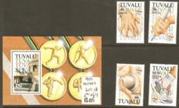 Tuvalu 1992  SG 647-51 Olympics Including Miniature Sheet Unmounted Mint