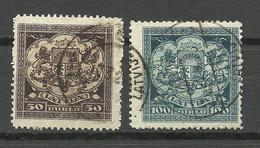 LETTLAND Latvia 1922 Michel 87 - 88 O - Lettland