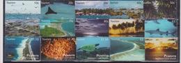 2010 Penrhyn - Tourism Sheet 15v, Island Views, Reefs, Recifs, Riffe, Marine Life, Sunset, Shark, Corals Mi 647/61 MNH